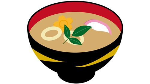 シジミの味噌汁のイラスト