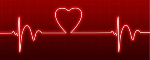 ハート型の心電図
